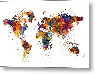 World Map Metal Print by Marian Voicu