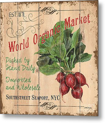 World Organic Market Metal Print by Debbie DeWitt