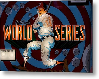 World Series Pinball Metal Print by Colleen Kammerer