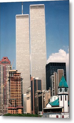 World Trade Center 1990 Metal Print by Lauri Novak