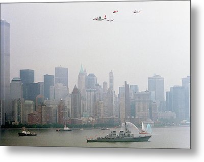 World Trade Center And Opsail 2000 July 4th Uscg Photo 17  Metal Print by Sean Gautreaux