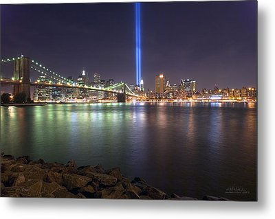 World Trade Center Memorial Metal Print by Shane Psaltis
