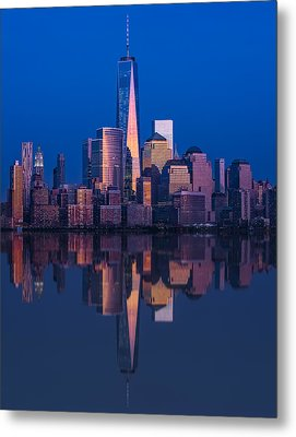 World Trade Center Reflections Metal Print by Susan Candelario