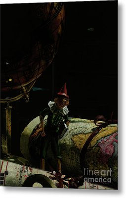 World Traveler Pinocchio Metal Print by Kelly Borsheim