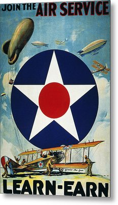 World War I: Air Service Metal Print by Granger