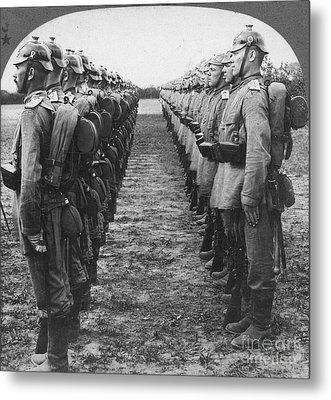 World War I: German Troop Metal Print by Granger