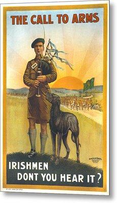 World War I, Irish Military Recruitment Metal Print by Everett