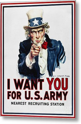 World War I: Uncle Sam Metal Print