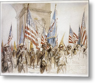 World War I: Victory Parade Metal Print by Granger