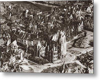World War I: View Of Arras Metal Print