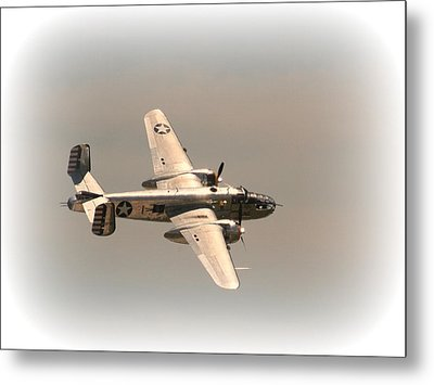World War II B25 Mitchell Bomber Metal Print