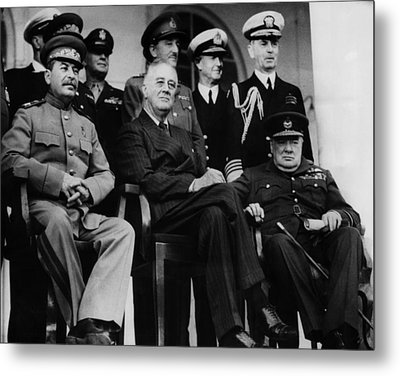 World War II. From Left, Front Row Metal Print by Everett
