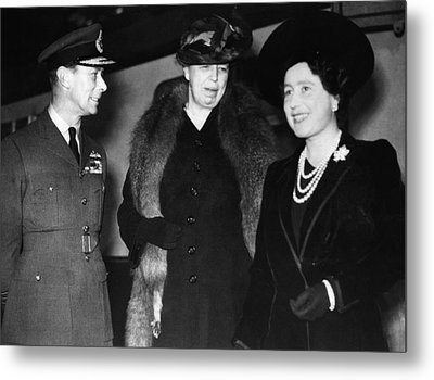 World War II. King George Vi Of England Metal Print