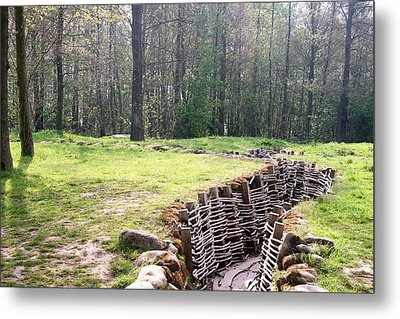 Metal Print featuring the photograph World War One Trenches by Travel Pics