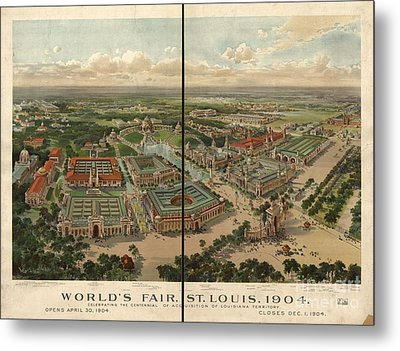Worlds Fair Louis Metal Print by MotionAge Designs