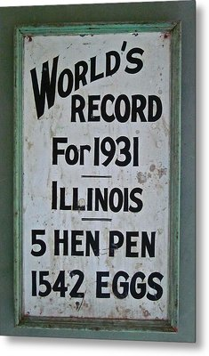 World's Record Metal Print by Gwyn Newcombe