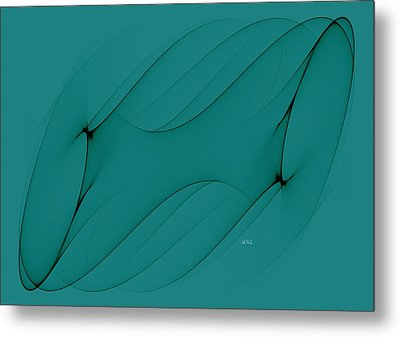 Wormhole In Turquoise  Metal Print by Angela A Stanton