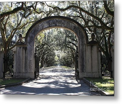 Wormsloe Plantation Gate Metal Print