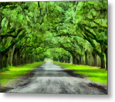 Wormsloe Plantation Metal Print