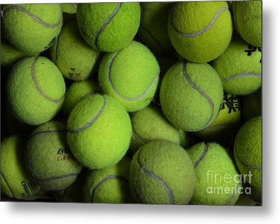 Worn Out Tennis Balls Metal Print