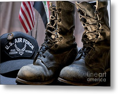 Metal Print featuring the photograph Worn Out Veteran by Melany Sarafis