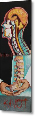 Worry Knot Metal Print by Tilly Strauss