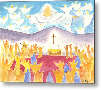 Worship God In Spirit And Truth Metal Print