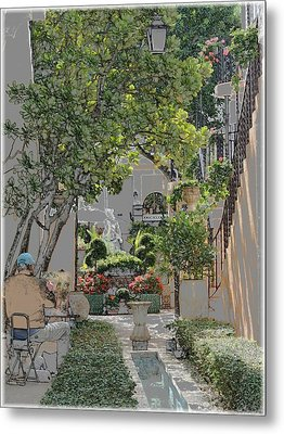 Metal Print featuring the photograph Worth Avenue Painter by Ellen O'Reilly
