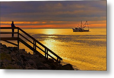 Worth Gettin Up For Metal Print by Laura Ragland