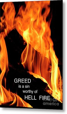 Metal Print featuring the photograph worthy of HELL fire by Paul W Faust - Impressions of Light