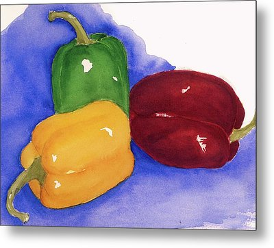 Would You Believe Peppers Metal Print