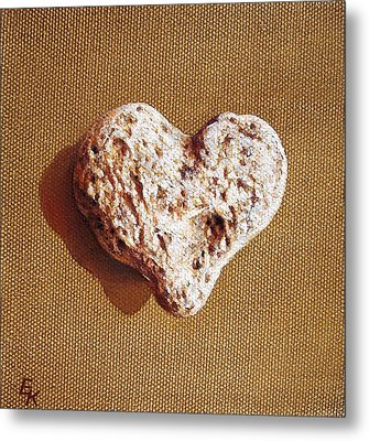 Wounded Heart Metal Print by Elena Kolotusha