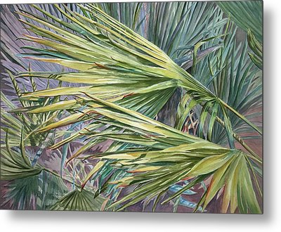 Woven Fronds Metal Print