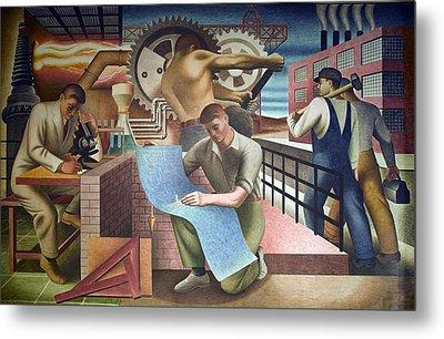 Wpa Mural. Mural By Charles Klauder Ca Metal Print by Everett