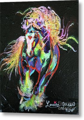 Wraggle Taggle Gypsy Cob Metal Print by Louise Green
