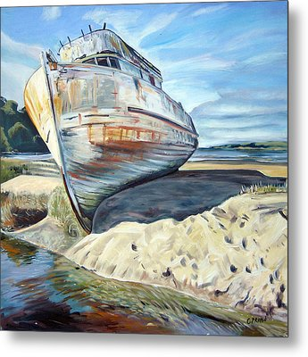 Wreck Of The Old Pt. Reyes Metal Print by Colleen Proppe