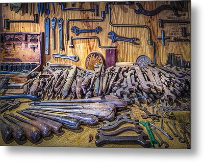 Wrenches Galore Metal Print by Debra and Dave Vanderlaan