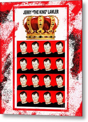 Wrestling Legend Jerry The King Lawler IIi Metal Print