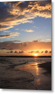 Wrightsville Beach Island Sunset Metal Print by Mountains to the Sea Photo