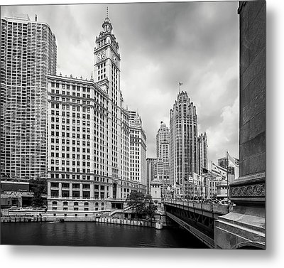 Metal Print featuring the photograph Wrigley Building Chicago by Adam Romanowicz