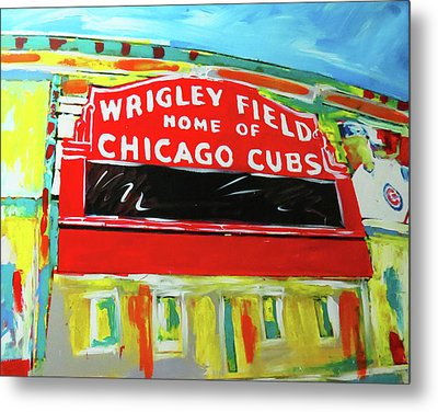 Wrigley Field Metal Print by Elliott From