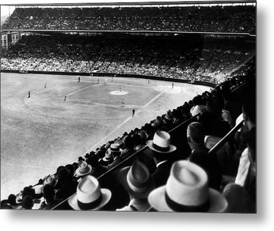 Wrigley Field, Fans Jam The Stands Metal Print by Everett