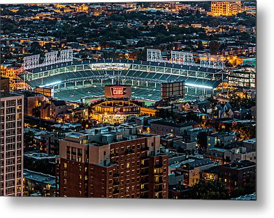 Wrigley Field From Park Place Towers Dsc4678 Metal Print