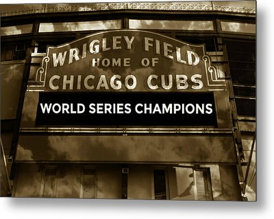 Wrigley Field Sign - Vintage Metal Print