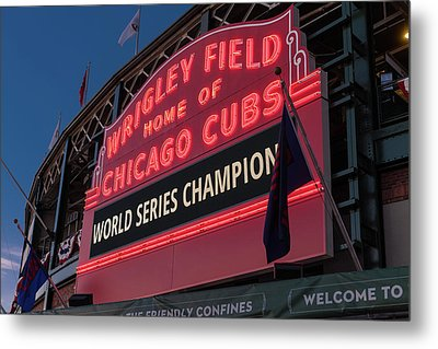Wrigley Field World Series Marquee Metal Print