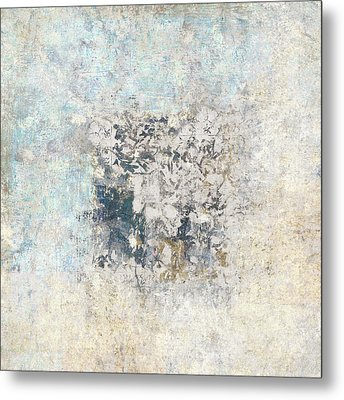 Writing On The Wall Number 5 Square Metal Print by Carol Leigh