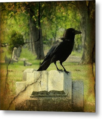 Written In Stone Metal Print by Gothicrow Images