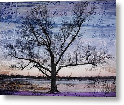Metal Print featuring the mixed media Written On The Wind by Terry Rowe