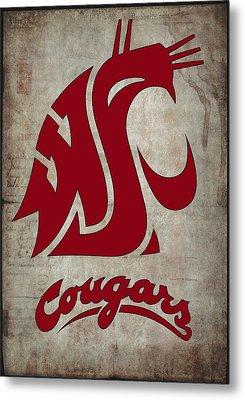 W S U Cougars Metal Print by Daniel Hagerman