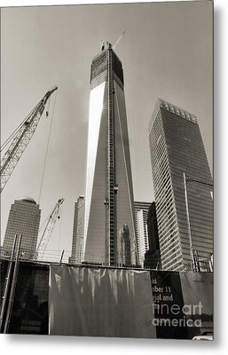Wtc Construction 9/11 Metal Print